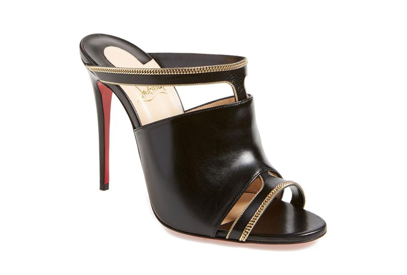 replica shoes christian louboutin - christian louboutin satin square-toe mules, replica sneakers ...